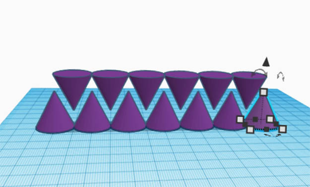Tinkercad Linear Pattern