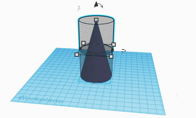 Tinkercad Assessment Splitting a Cone