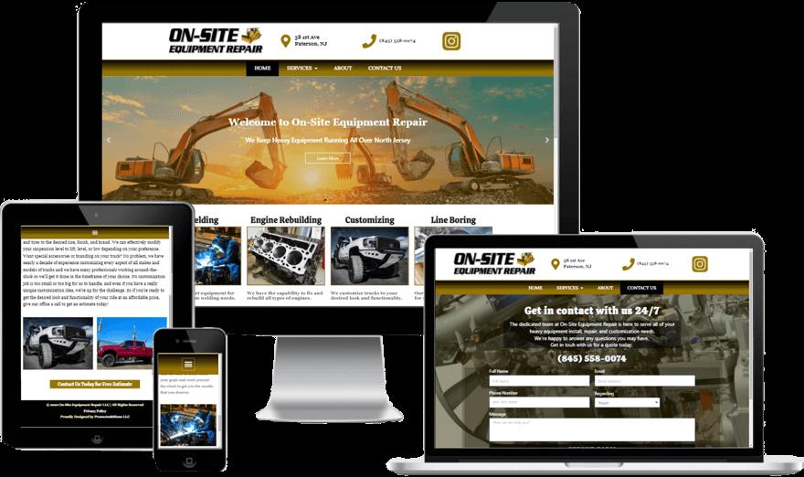 Heavy Equipment Website